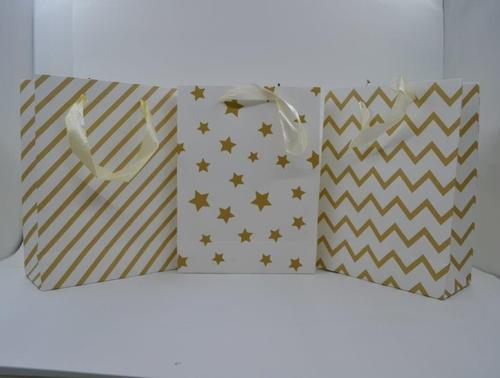 Gift bag metallic Pattern (S) 17,5x23x8