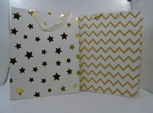 Gift Bag Metallic Pattern (M) 26x32x10